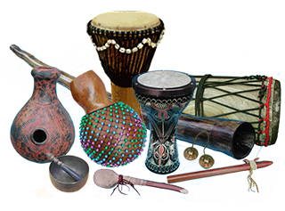 Hand percussion instruments collection